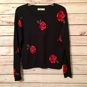 Abercrombie Kids Rose Floral Sweater